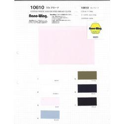 10610 50sブロード NANO-WING 綿100%