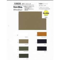 10609 20チノストレッチ NANO-WING 綿95% ポリウレタン5%