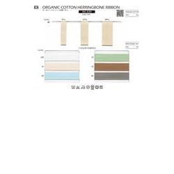 オーガニックコットン杉綾リボン/9ミリ   2021SSコラボ特集Ⅱ